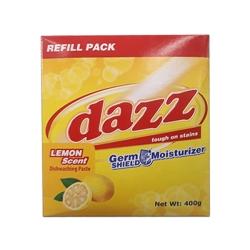 DAZZ DISHWASHING PASTE LEMON REFILL PACK 400G