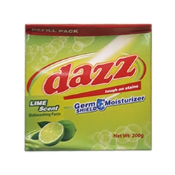 DAZZ DISHWASHING PASTE LIME REFILL PACK 200G