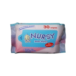 BABY WIPES IN POWDER SCENT 30'S