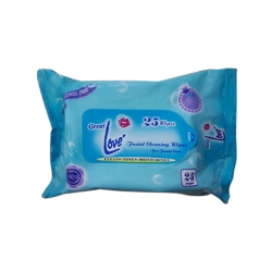 GREAT LOVE FACIAL WIPES 25'S BLUE