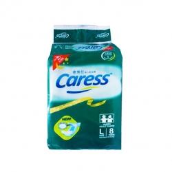 CARESS UNISEX DIAPER OVERNIGHT 8PADS L