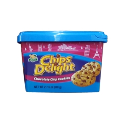 CHIPS DELIGHT CHOCOLATE CHIP COOKIES (TUBS) 600G