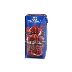 CHABAA POMEGRANATE & BLUEBERRY JUICE 180ML