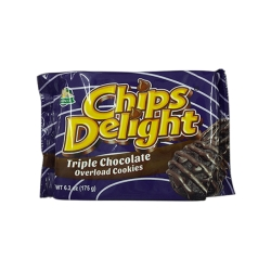CHIPS DELIGHT TRIPLE CHOCO 175G