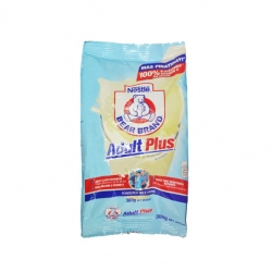 BEAR BRAND ADULT PLUS POWDER MILK 300G 126.25