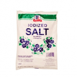 MC CORMICK IODIZED SALT REFILL 1KG