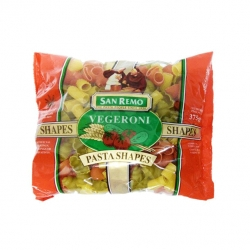 SAN REMO VEGERONI PASTA SHAPES 375G