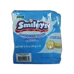 SMILEYS BERRY BLAST BLUEBERRY 10X20X20G