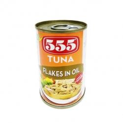555 TUNA FLAKES IN OIL 155G 24.25