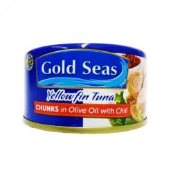 GOLD SEAS YELLOWFIN TUNA CHUNKS OLIVECHILI 185G