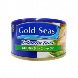 GOLD SEAS YELLOWFIN TUNA CHUNKS IN OLIVE OIL 185G