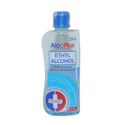 ALCOPLUS ETHYL ALCOHOL 70% SOL 250ML