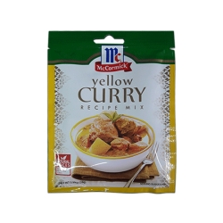 MCCORMICK YELLOW CURRY RECIPE MIX 28G