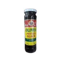 DONA ELENA OLIVES PITTED BLACK 140G